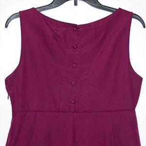 J. Crew Dresses - J.Crew sleeveless a-line button back dress